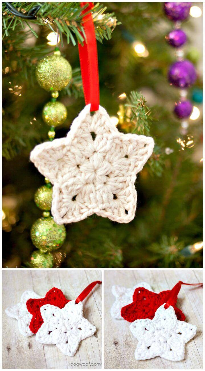 Easy How To Free Crochet Star Ornament Pattern