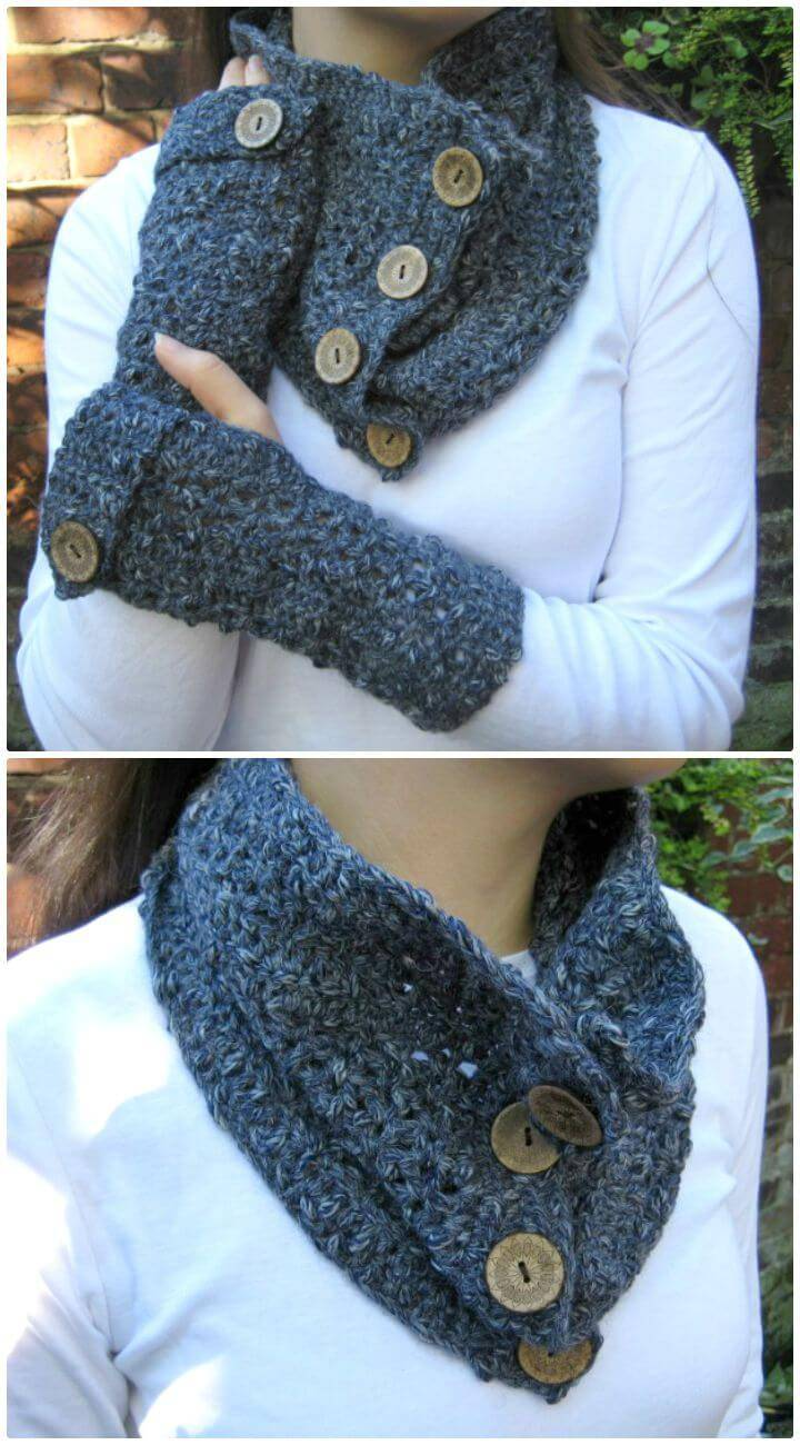 Easy Free Crochet Textured Cowl Pattern