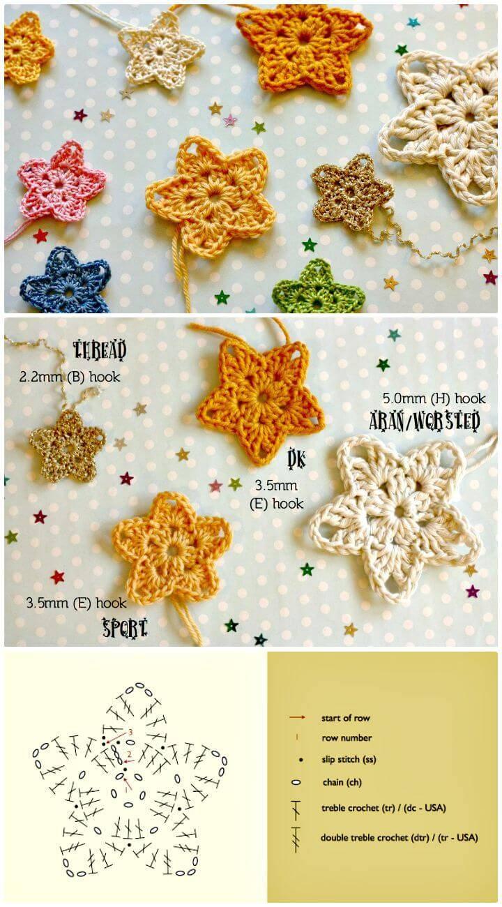 Easy Crochet Twinkler Stars - Free Pattern