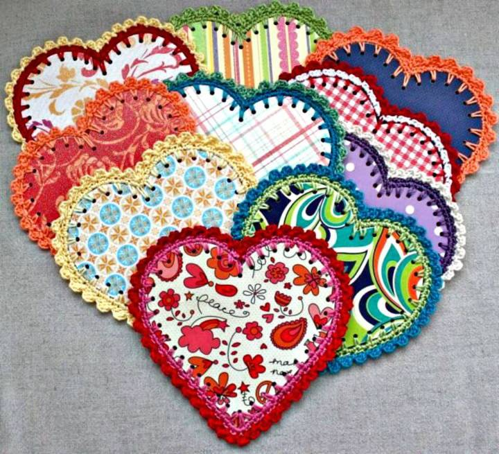 Easy How To Free Crocheted Paper Heart Garland Pattern And Tutorial
