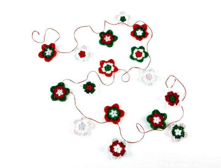How To Free Crocheted Star Garland Pattern