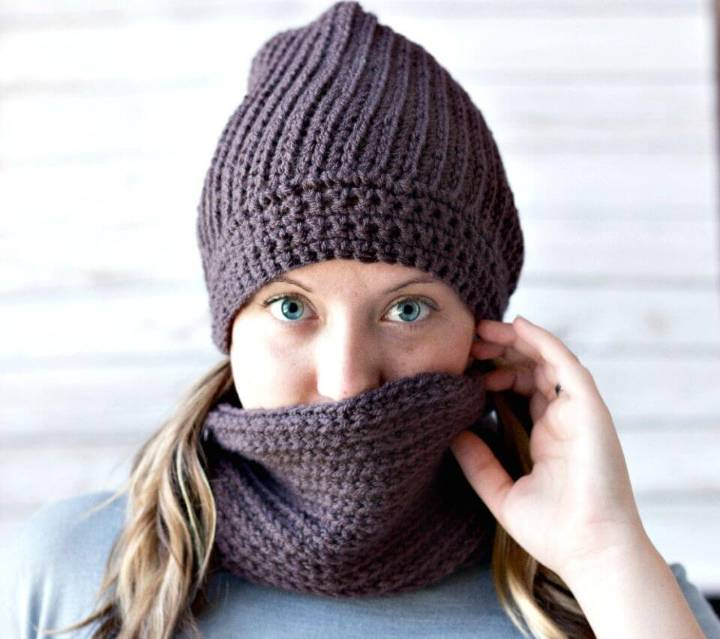 Free Crochet Emily Cowl That Looks Like Knitting
