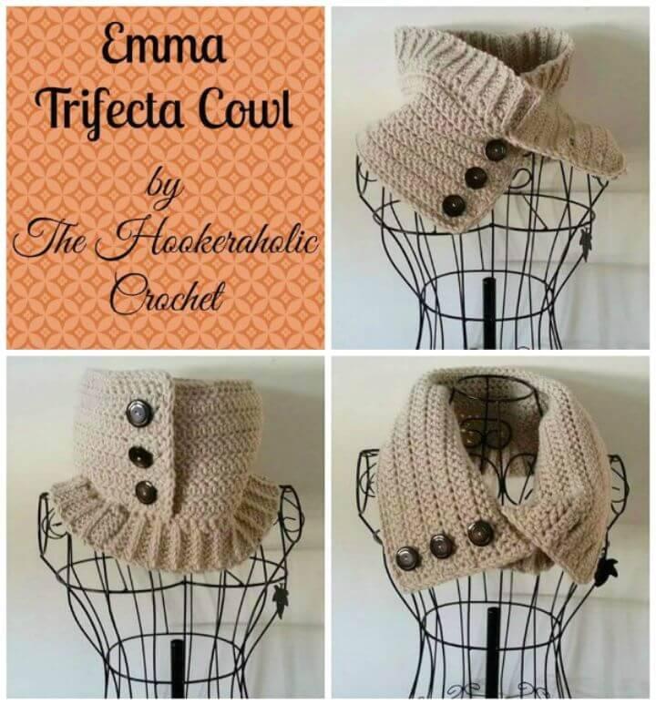 Easy Free Crochet Emma Trifecta Cowl