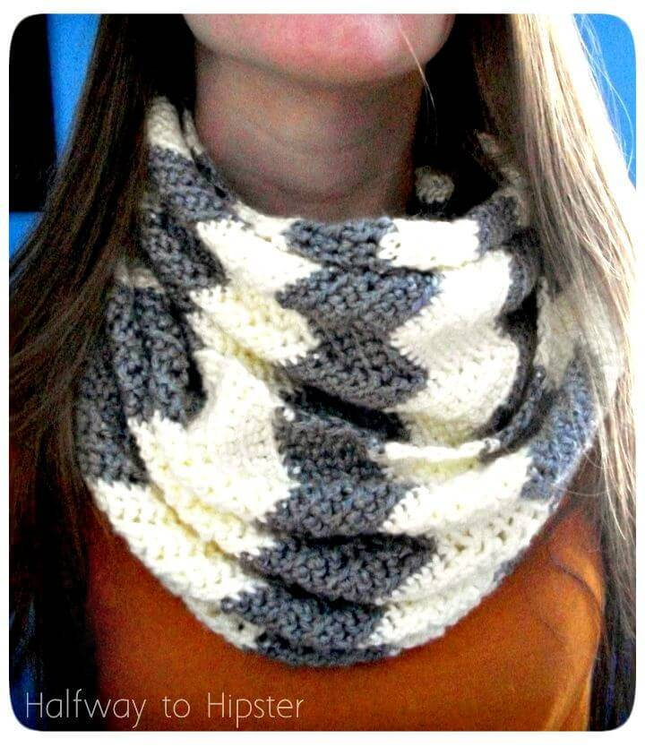 How To Easy Free Chevron Scarf Pattern