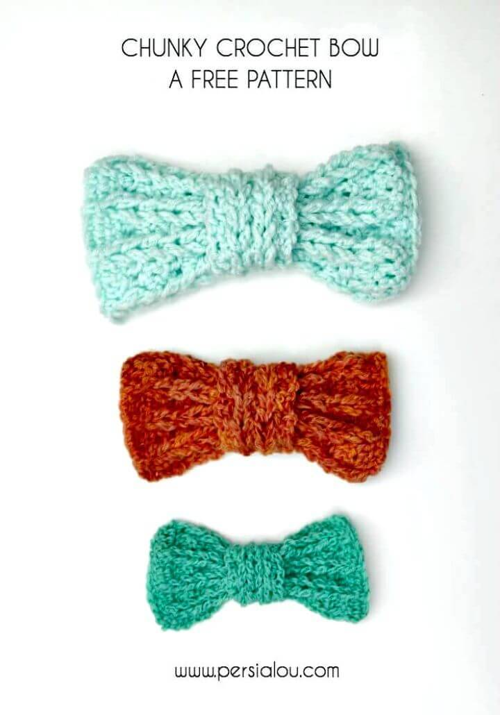 Easy Free Chunky Crochet Bow Pattern