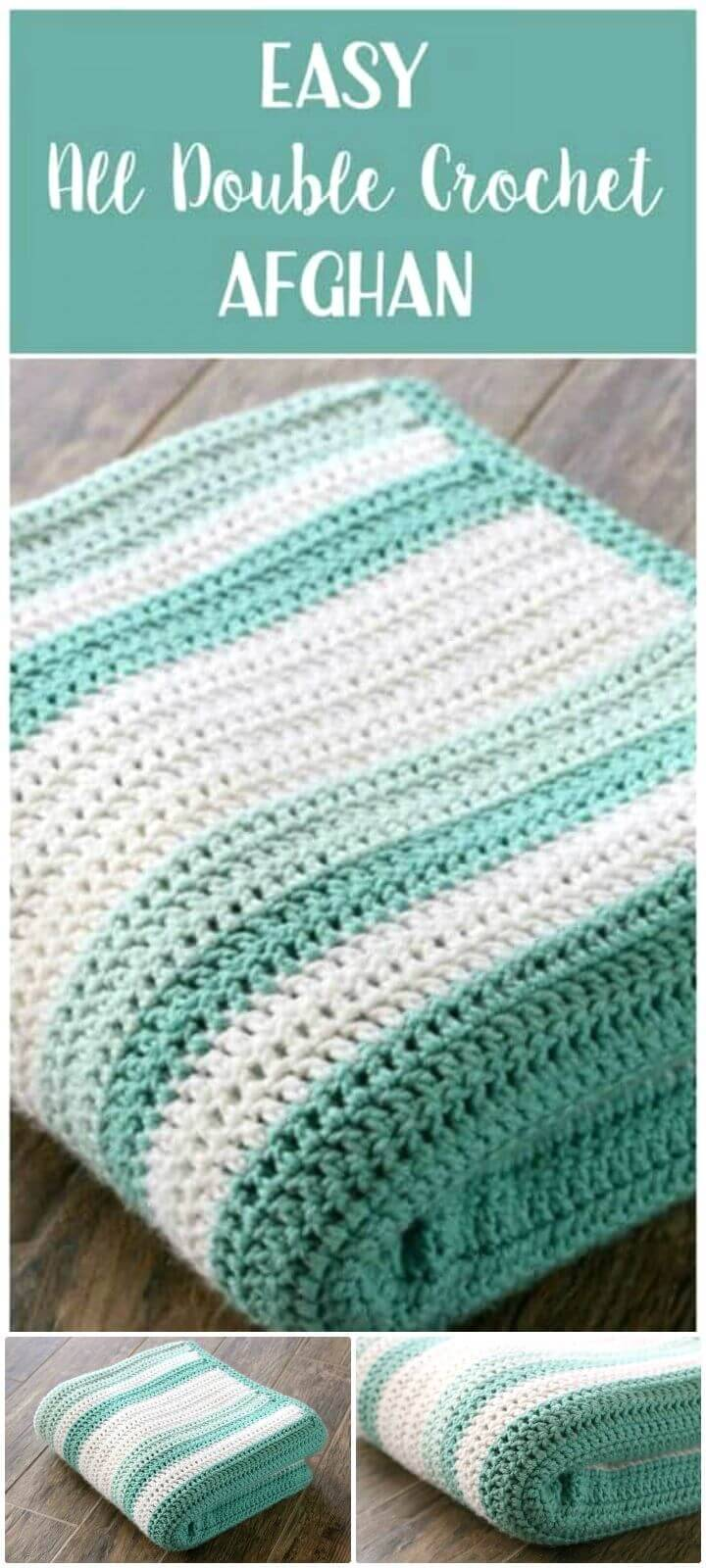 How To Easy Free Crochet All Double Afghan Pattern