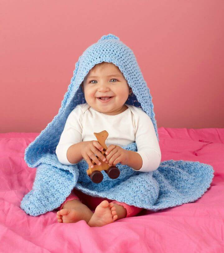 Free Crochet All Star Hooded Blankie Pattern
