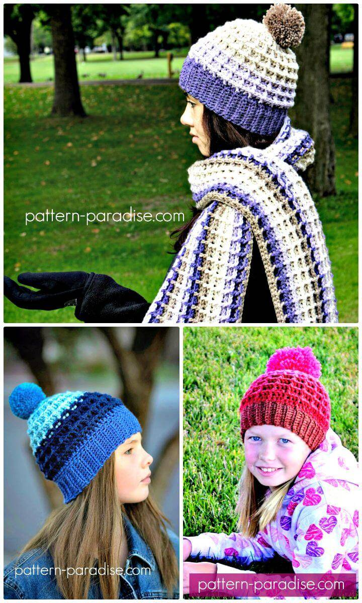 Free Crochet Alpine Nights Beanie Pattern