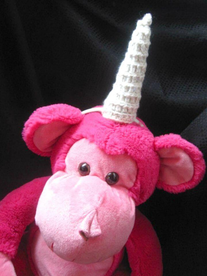 Crochet Amigurumi Unicorn Horn - Free Pattern