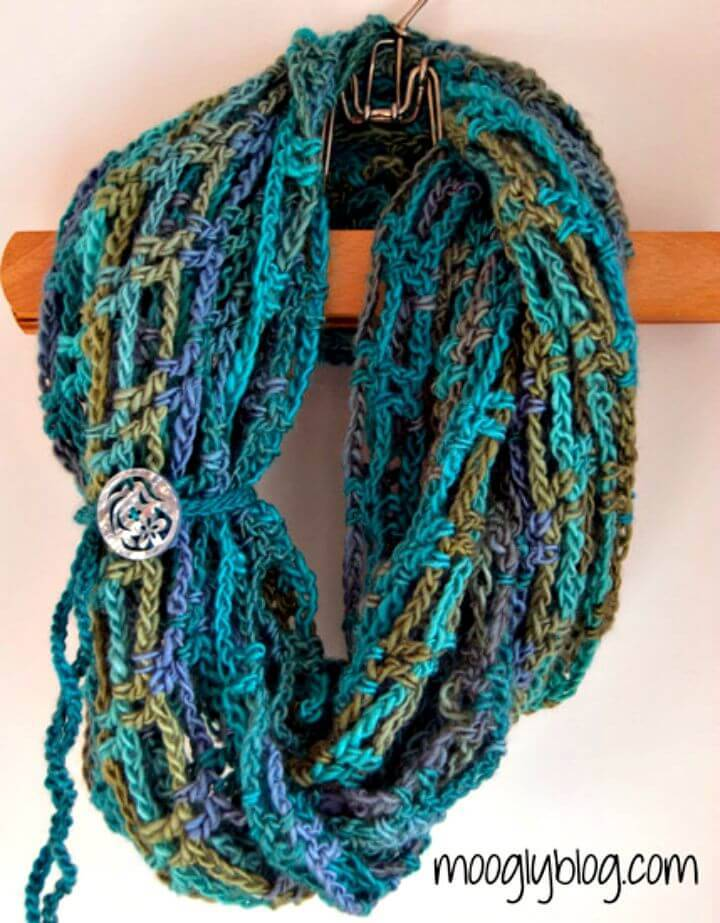 Easy Free Crochet Artfully Simple Infinity Scarf Pattern