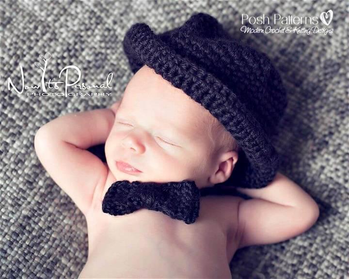 Free Crochet Baby Bow Tie Pattern