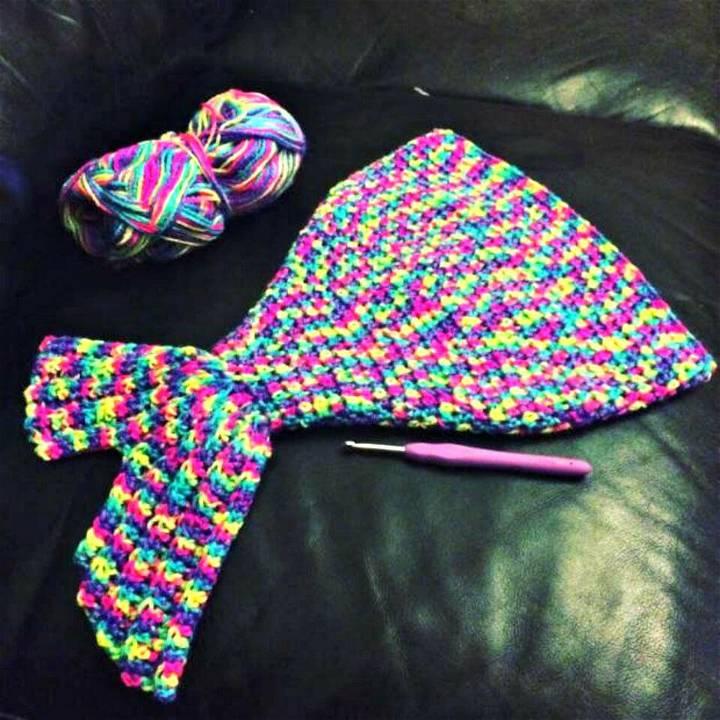 Free Crochet Baby Mermaid Tail Sleeping Bag Pattern