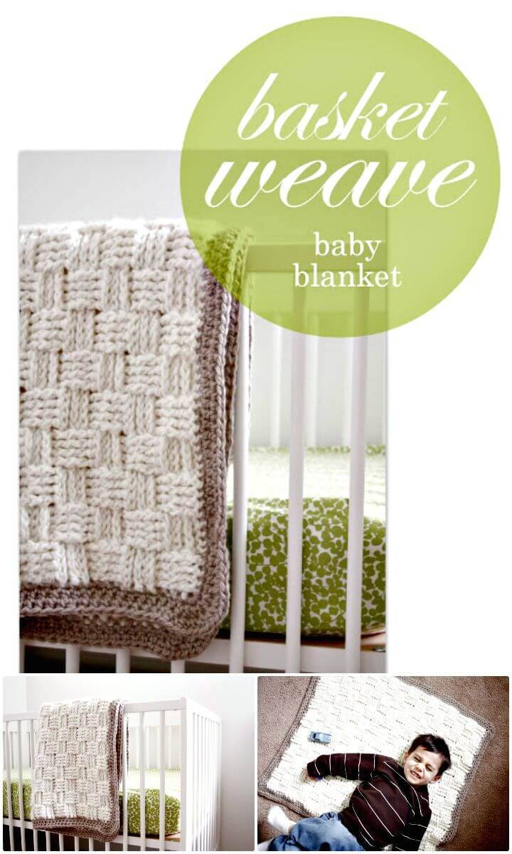 How To Free Crochet Basket Weave Baby Blanket Pattern