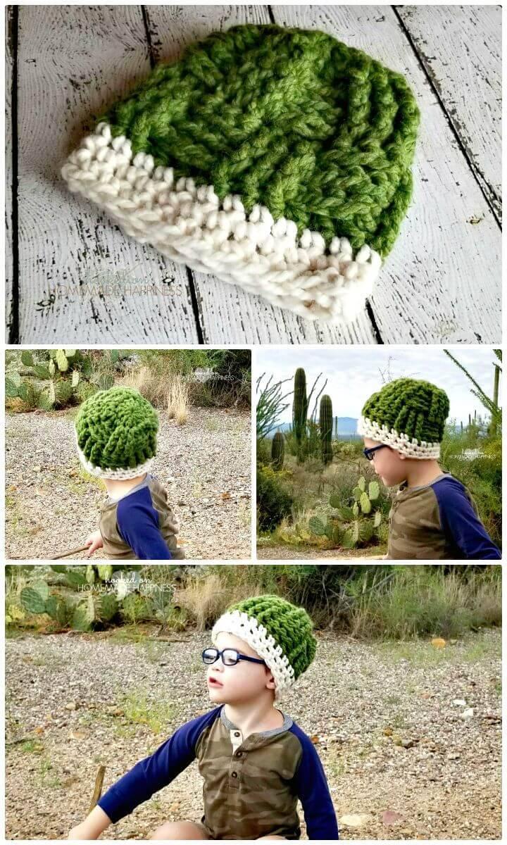 Crochet Basket Weave Beanie - Free Pattern