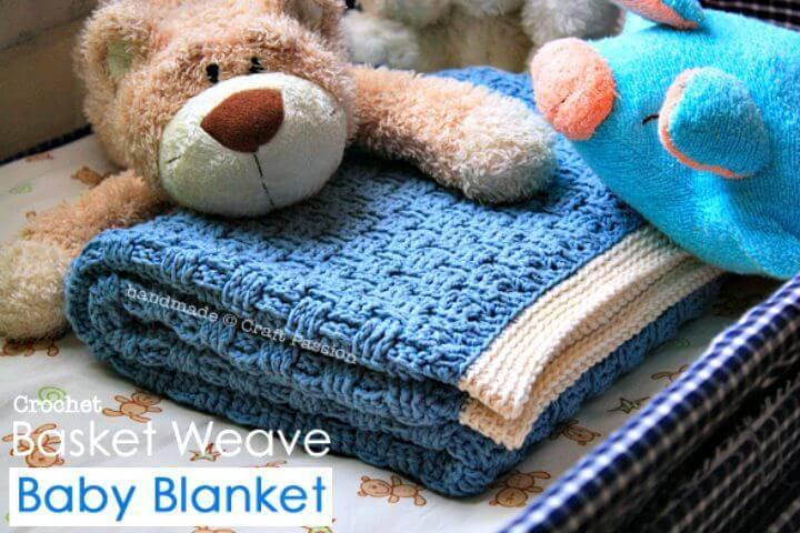 Crochet Basket Weave Free Pattern Using Caron Cake