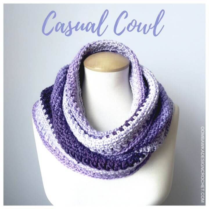 How To Free Crochet Beautiful Casual Cowl Pattern