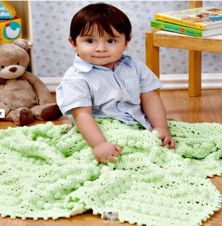 Cute Free Crochet Bobble Baby Blanket Pattern