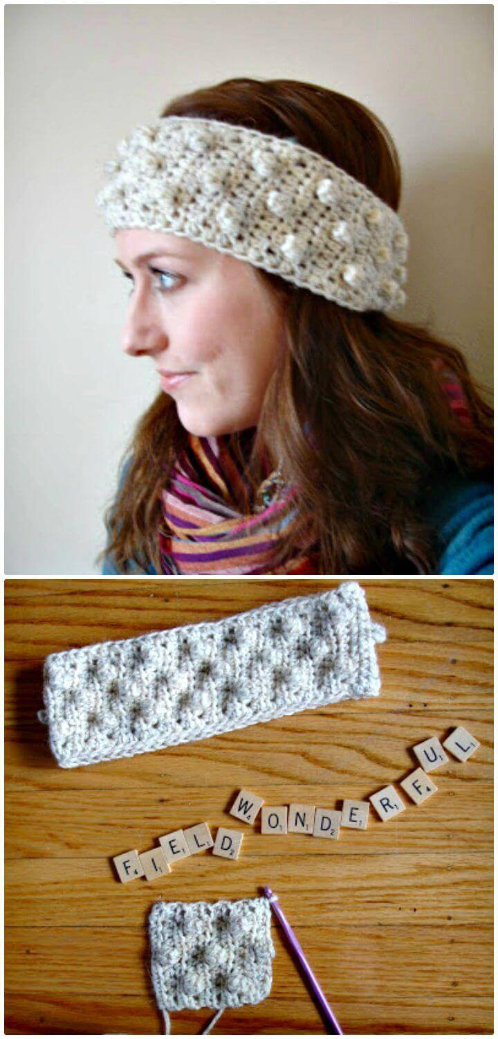 How To Free Crochet Bobble Headband Pattern