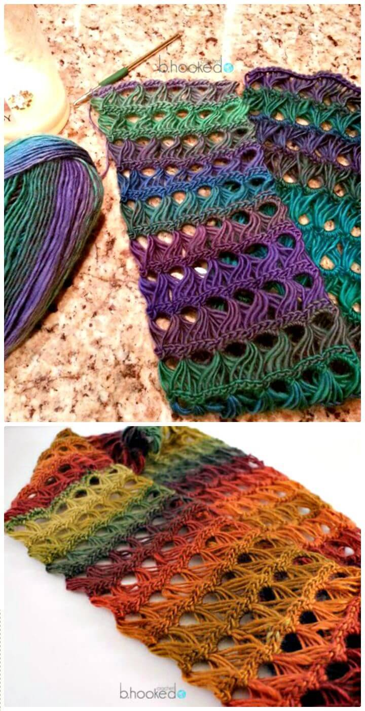 Free Crochet Broomstick Lace Infinity Scarf Pattern