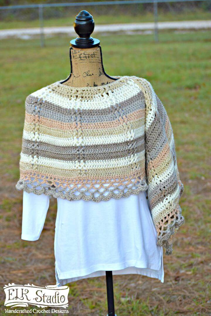 Easy Free Crochet Caron Cakes And Delightfully Southern Shawl Pattern