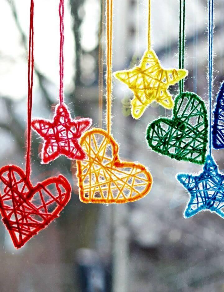 Free Crochet Caron Hearts and Stars Pattern