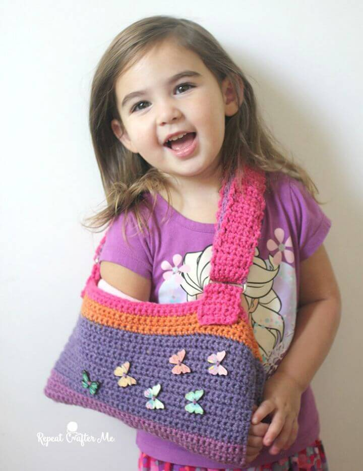 Free Crochet Cast Sling Pattern Using Caron Cake