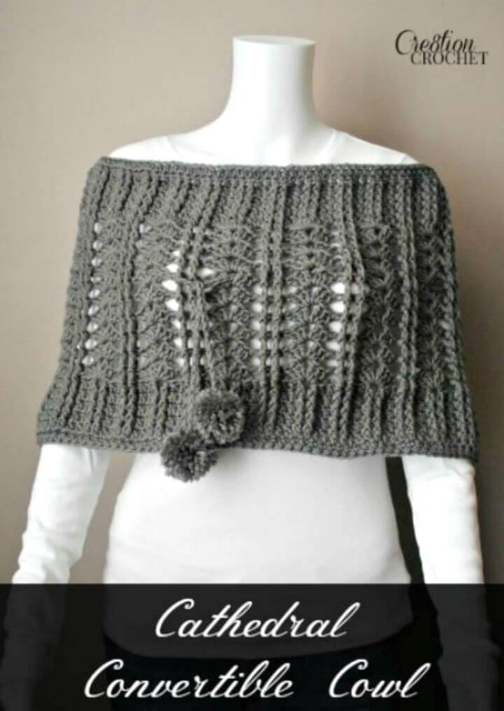Free Crochet Cathedral Convertible Cowl Pattern