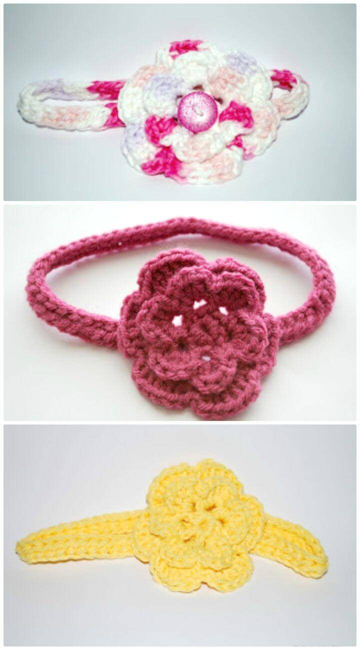 How To Free Crochet Chain-Less Foundation Headband Pattern