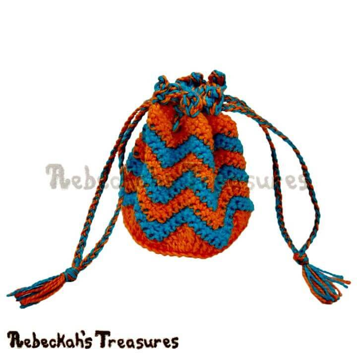 Easy Free Crochet Chevron Coin Purse Pattern
