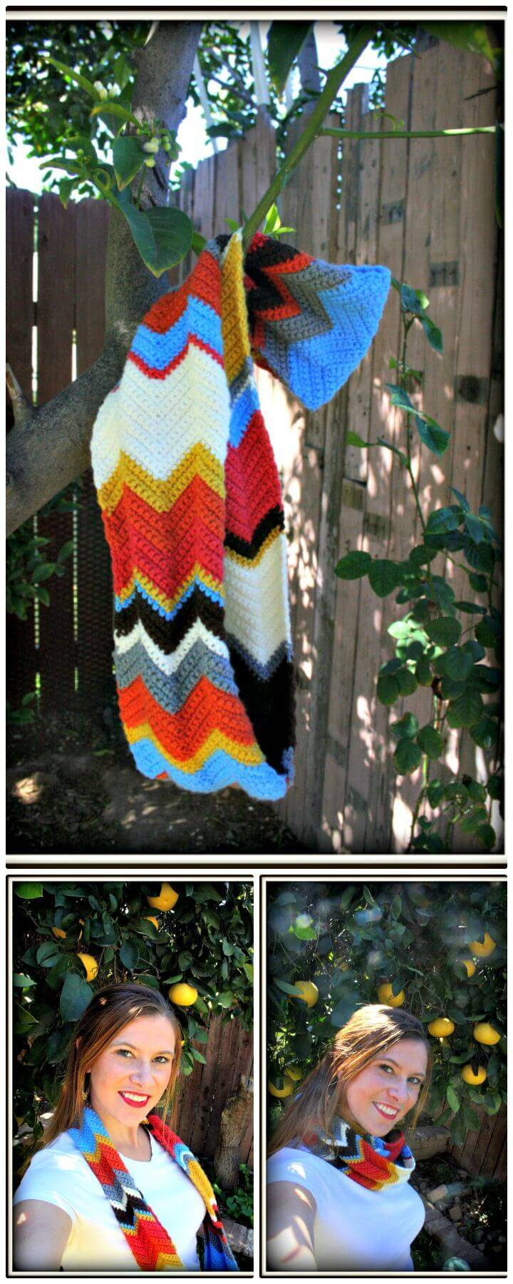 How To Crochet Chevron Infinity Scarf - Free Pattern