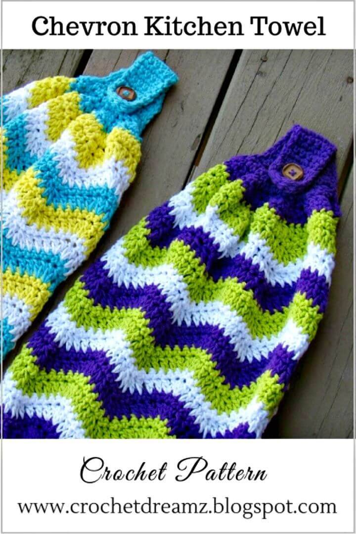 Free Crochet Chevron Kitchen Towel Pattern