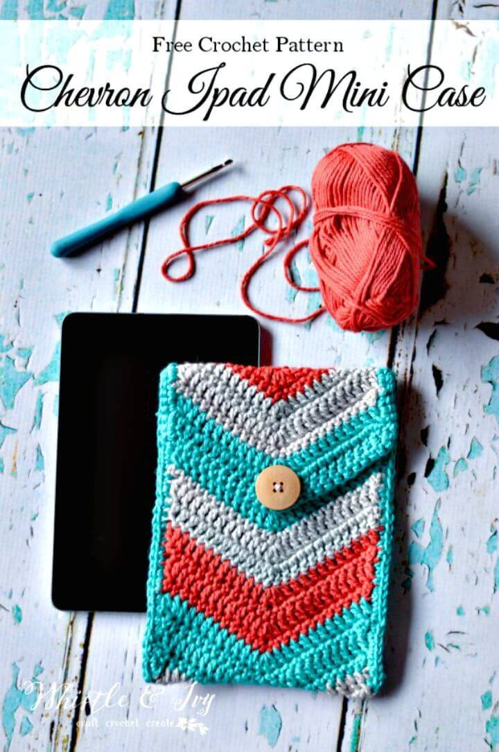 Easy Crochet Chevron iPad Mini Case - Free Pattern