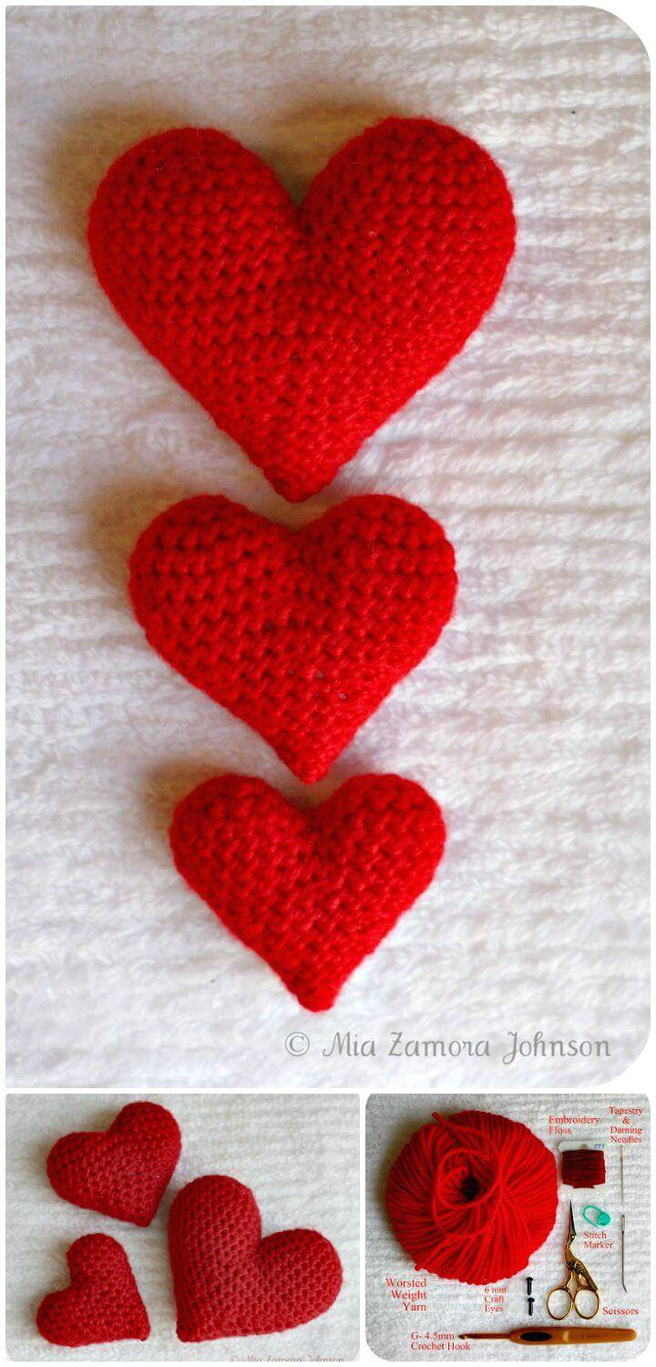 Free Crochet Corazoncitos Hearts Pattern