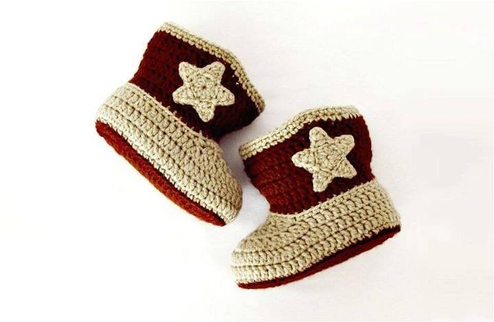 Easy Free Crochet Cowboy Boots Pattern