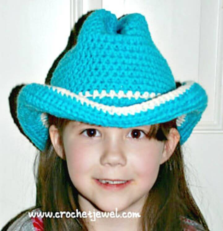How To Easy Free Crochet Cowboy Or Cowgirl Hat Pattern