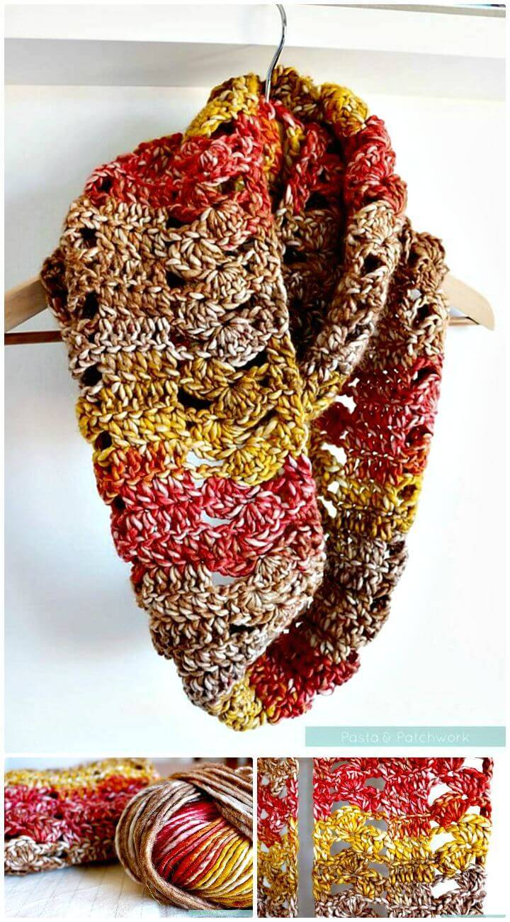 Free Crochet Cowl - A Fan Of Fall Pattern