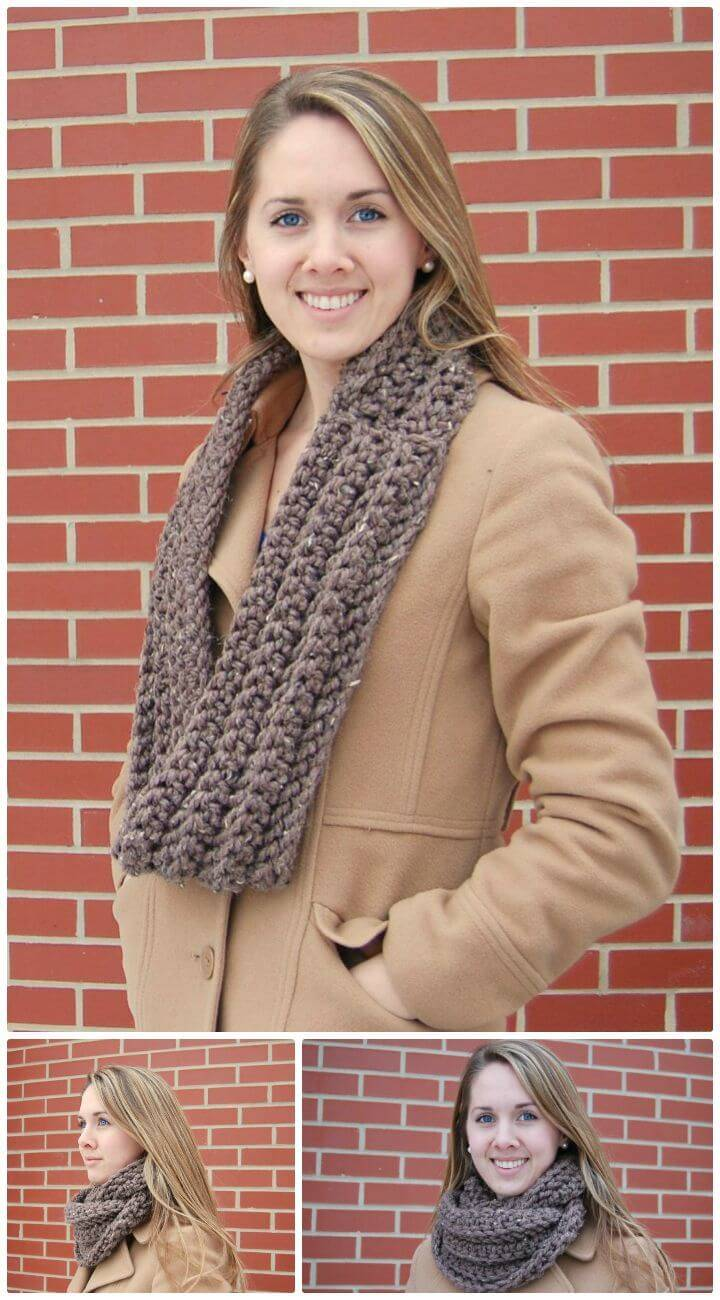 Easy Free Crochet Cowl Pattern With Infinity Loop Pattern