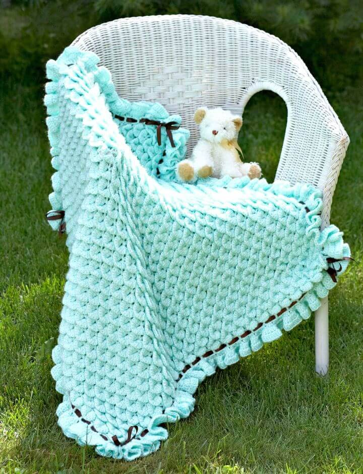 Free Crochet Crocodile Stitch Baby Blanket Pattern