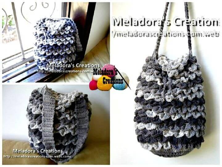 Free Crochet Crocodile Stitch Shawl Pattern