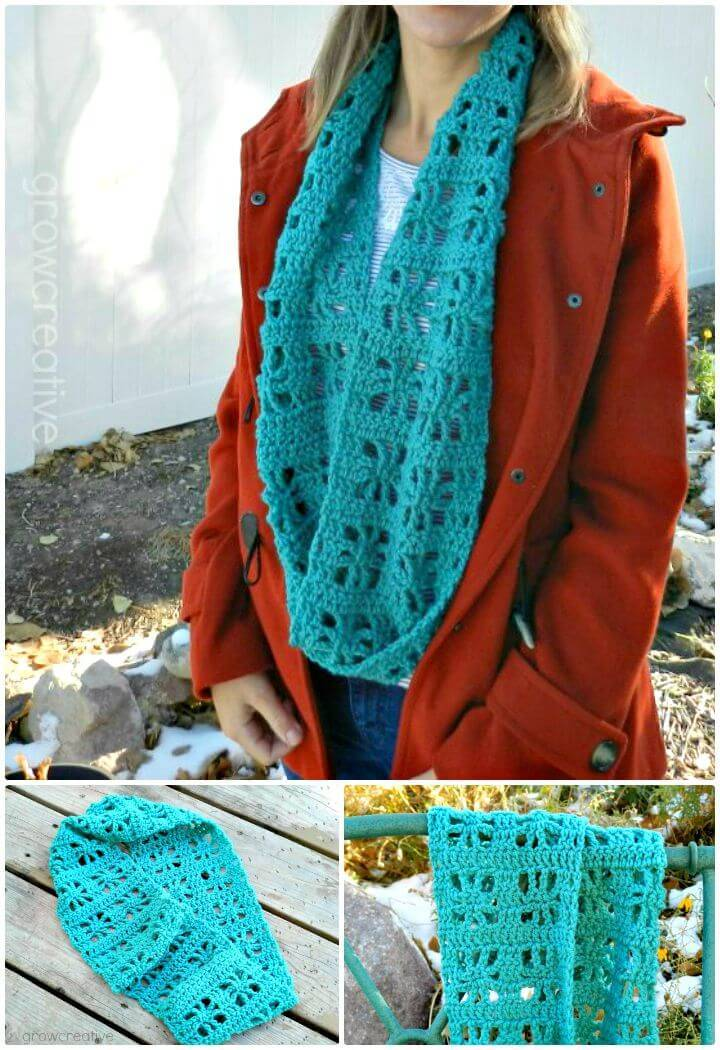 How To Free Crochet Cube Infinity Scarf Pattern