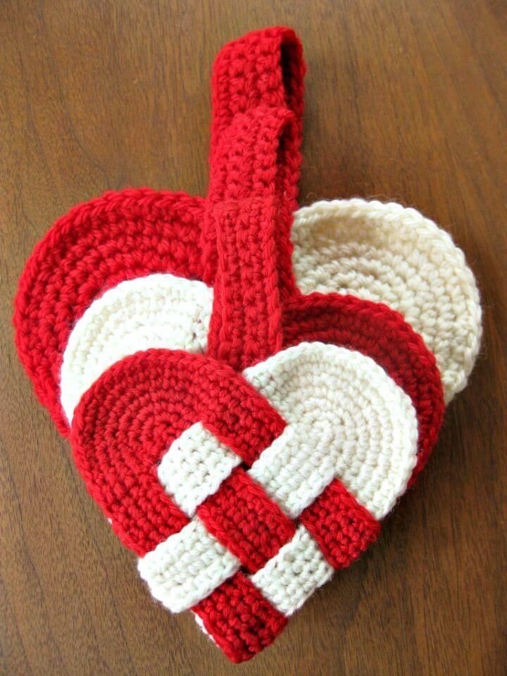 Easy Free Crochet Danish Heart Pattern