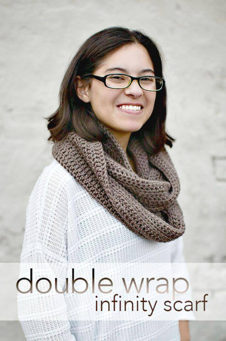 How To Free Crochet Double Wrap Infinity Scar Pattern