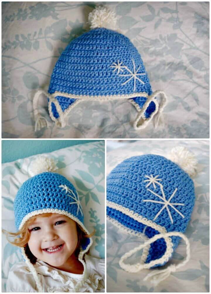How To Free Crochet Ear-flap Hat Toddler Pattern