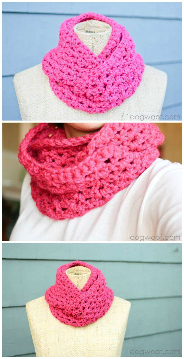 Free Crochet End Of Winter Double Strand Infinity Scarf Pattern