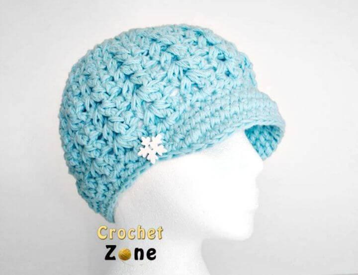 Crochet Felicity Newsboy Hat - Free Pattern