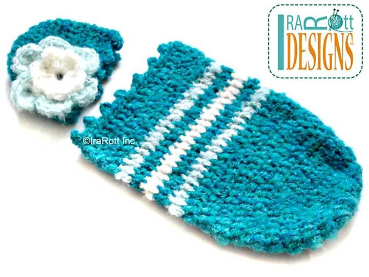 Easy Free Crochet Fleecy Cloud Cocoon And Beanie Set Pattern