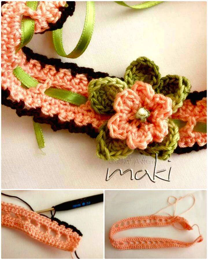 Easy Free Crochet Flower Baby Headband Pattern