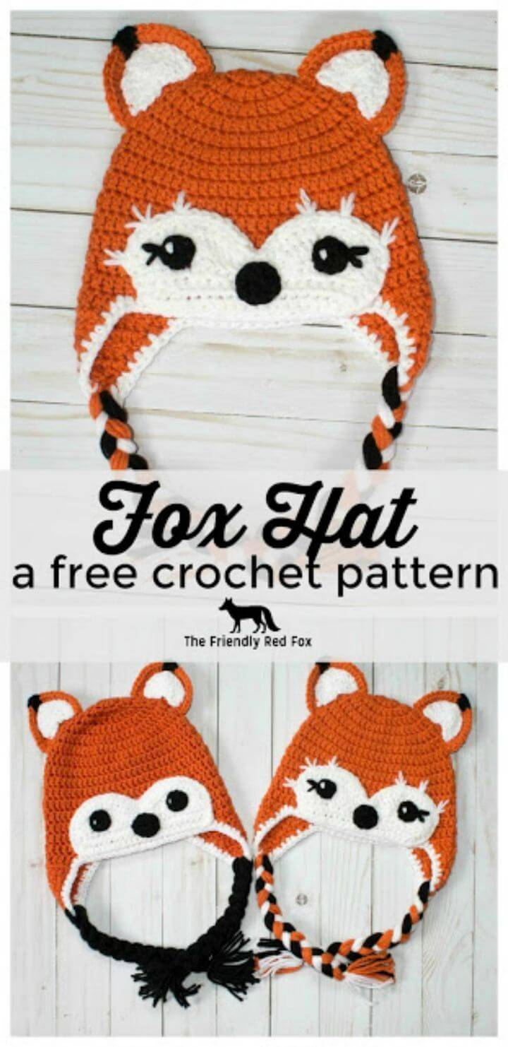 How To Free Crochet Friendly Fox Hat Pattern