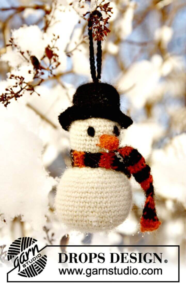 How To Crochet Frosty The Snowman - Free Pattern