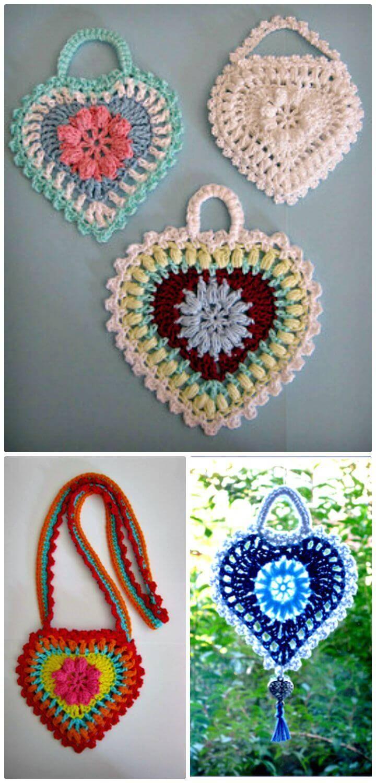How To Free Crochet Grandma's Heart Pattern